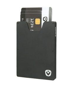 Valenta Card Case Aluminium Zwart-91602