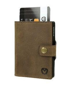 Valenta Card Case Wallet Brown-0