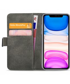 Mobilize Classic Gelly Wallet Book Case Apple iPhone 11 Black-149213