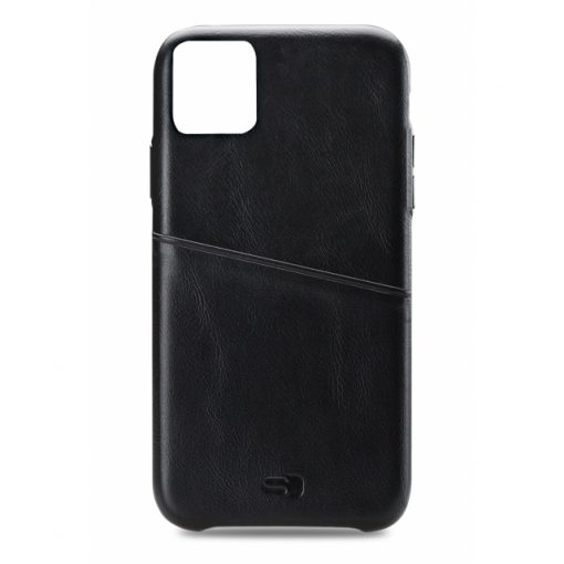 Senza Pure Leather Cover with Card Slot Apple iPhone 11 Deep Black-0