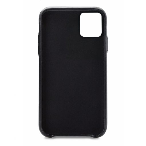 Senza Pure Leather Cover with Card Slot Apple iPhone 11 Deep Black-149159