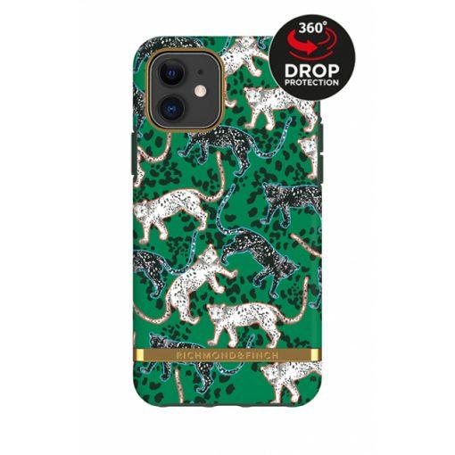 Richmond & Finch Freedom Series Apple iPhone 11 Green Leopard/Gold-0