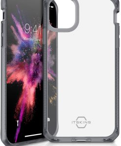 ITSKINS Level 2 HybridFrost for Apple iPhone 11 Transparent Black-0