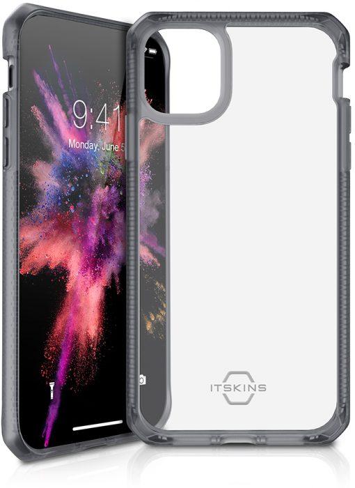 ITSKINS Level 2 HybridFrost for Apple iPhone 11 Transparent Black-0