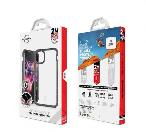 ITSKINS Level 2 HybridFrost for Apple iPhone 11 Transparent Black-149204