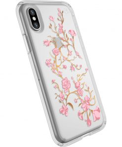 Speck Presidio Clear + Print Apple iPhone X/XS GoldenBlossoms Pink/Clear-0