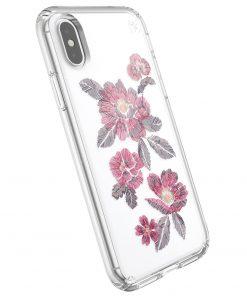 Speck Presidio Clear + Print Apple iPhone X/XS Embroideredfloral Fuchsia/Clear-0