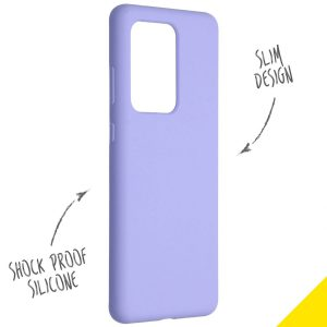 ACCEZZ LIQUID SILICONE CASE PURPLE GALAXY S20 PLUS