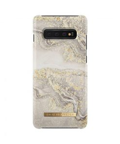 IDEAL FASHION CASE SPARKLE GREIGE MARBLE GALAXY S10 PLUS