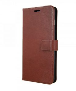 VALENTA BOOKLET LEATHER BROWN - GEL SKIN GALAXY S10 PLUS